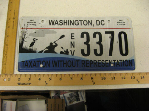 WASHINGTON DC DISTRICT OF COLUMBIA GRAPHIC LICENSE PLATE ENVIRONMENTAL LOON 3370