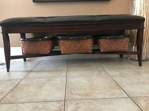 Front Entry or bedroom leather bench