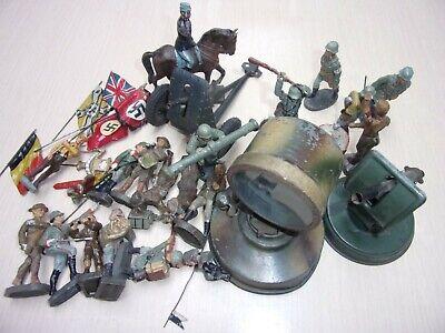 Beau petit lot de Soldats Elastolin - Lineol + Phare, canon.......