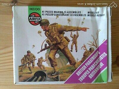 Niños Soldados de Plástico Airfix H0/00 WW2 British Paracaidista De Grupo