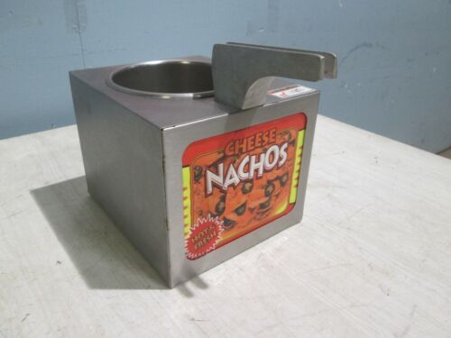 """APW""  COMMERCIAL HD LIGHTED HEATED NACHOS CHEESE SAUCE WARMER DISPENSER SERVER"