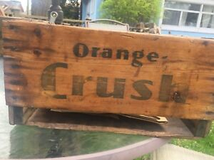 Vintage Pop Wood Crate