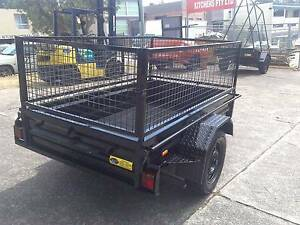 8x5  heavy duty trailer  with mesh cage Mortdale Hurstville Area Preview