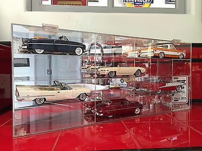 Acrylic Diecast Display Case for (12) 1:24 Scale Collectibles w Mirrored Backing