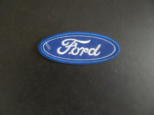 """FORD """" AUTOMOTIVE BLUE & white EMBROIDERED IRON ON PATCHES 1-1/2 X 3-1/2"""