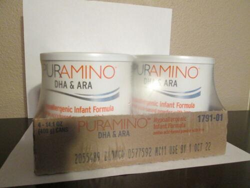 Puramino Infant Formula, SEALED case 4 cans X 14.1oz, expire OCT2022, FRESHEST!