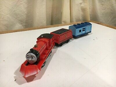 Motorized Snow Clearing James with Ice Car for Thomas and Friends Trackmaster