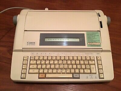 Canon Ft5000 Type Writer Word Processor Works