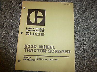 Caterpillar Cat 633D Tractor Scraper Shop Service Maintenance Repair Manual