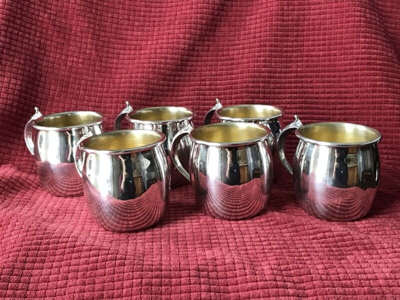 F.B. Rogers Silver Co. Punch Cups Set of 6