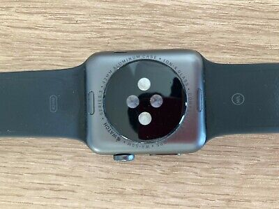 Apple watch Series 3, 42mm, Space Grey.  Black Strap, bought 2019.