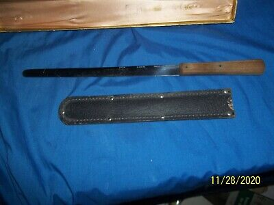 "Vintage CASE Kitchen Knife, Slicing, Bread, with Sheath in Org Box 9.5"" Blade"