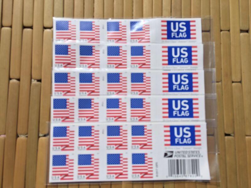 100 US Flag 2017 USPS Forever Postage Stamps ~ No Expiration