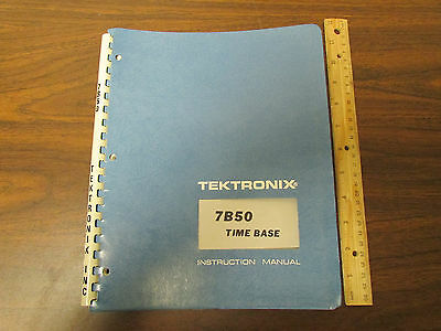 Tektronix 7b50 Oscilloscope Plugin Time Base Operation Service Manual