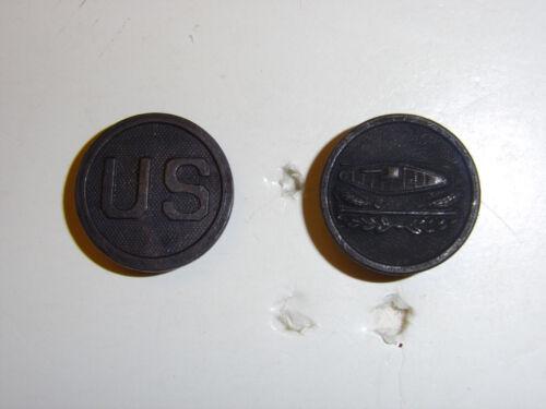 b3119 WW 1 US Army EM Collar Disks Tank Corp US and Tank disc set IR30A6