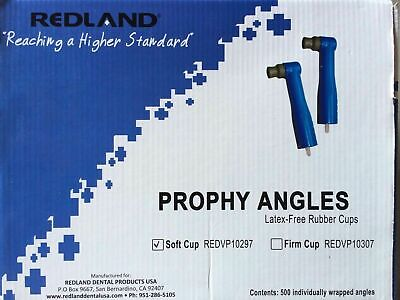 Redland Disposable Dental Prophy Angles Latex Free Soft Cups 500pack Fda