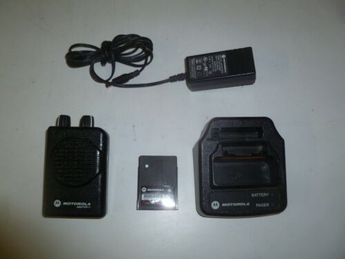 Motorola Minitor V 151-158.9 MHz VHF 2 Channel Fire EMS Pager & Charger oc550e