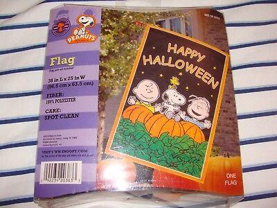 Peanuts Happy Halloween Garden Flag Charlie Brown Snoopy Woodstock Linus ()