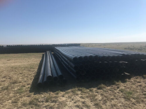 """50' joint of 8"""" SDR 17 HDPE POLY Pipe Used Black Plastic"""
