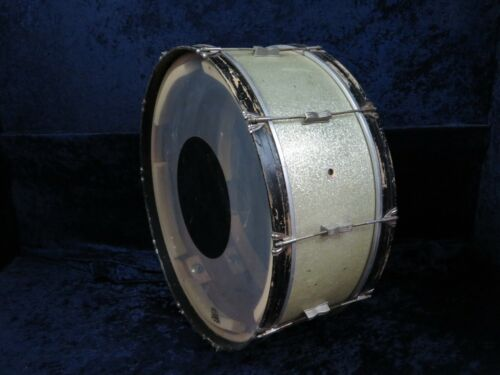 WFL Ludwig Early Large Keystone 28 x 10 Bass Drum Ser#isi8921-15 Silver Sparkle