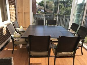 Metal Patio table and chairs furniture for sale