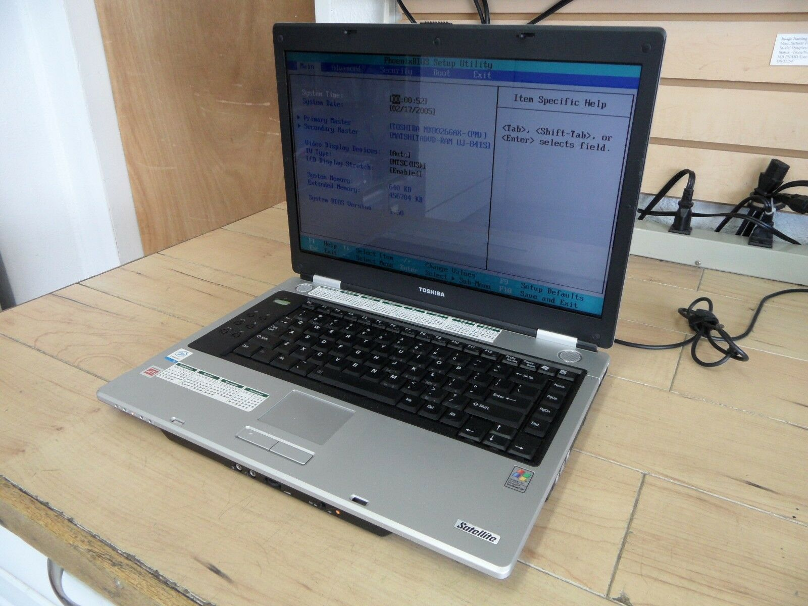 Toshiba Satellite M45 Laptop For Parts Posted Bios Hard Drive Wiped *