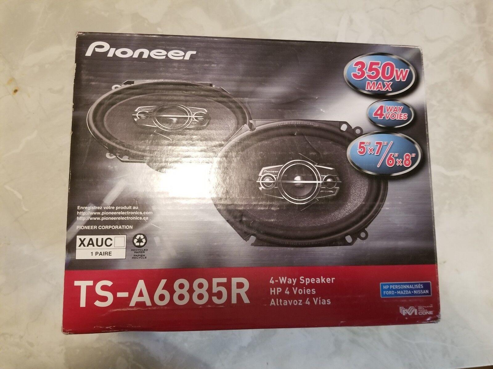 "Pioneer TS-A6885R 6"" x 8"" 4-Way TS Series Coaxial Car Speake"