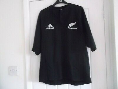 NEW ZEALAND (ALL BLACKS) RUGBY UNION SHIRT LARGE SIZE 48 INCH ADIDAS MAKE
