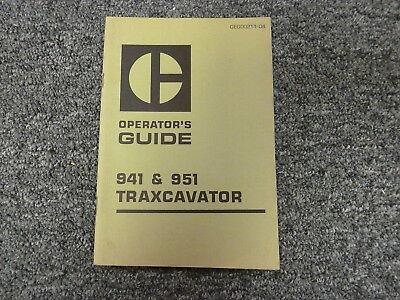 Caterpillar Cat Models 941 951 Traxcavator Loader Owner Operator Manual Book