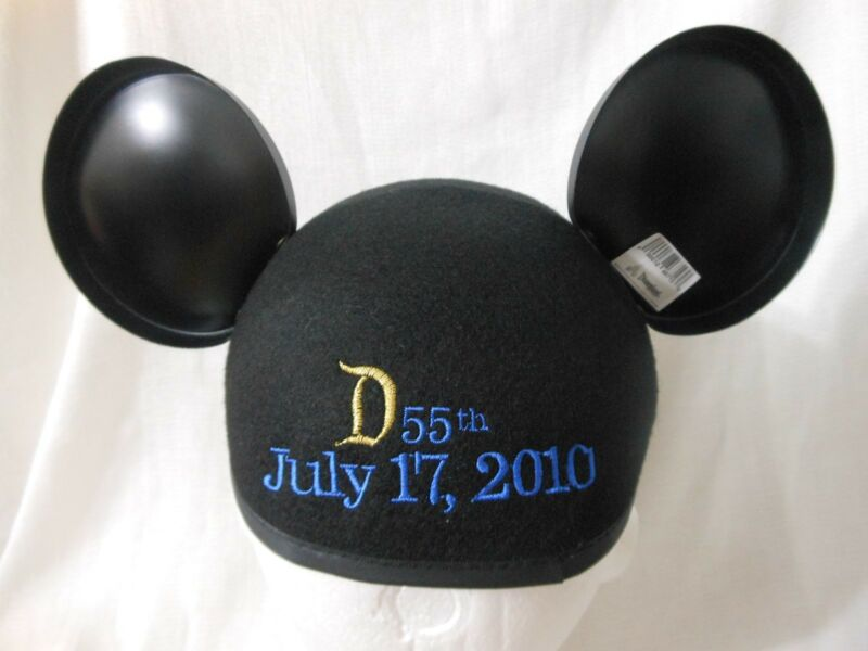 """Disney Mickey Mouse Earhat """"DAY OF"""" DISNEYLAND 55th ANNIVERSARY July 17 2010 Hat"""