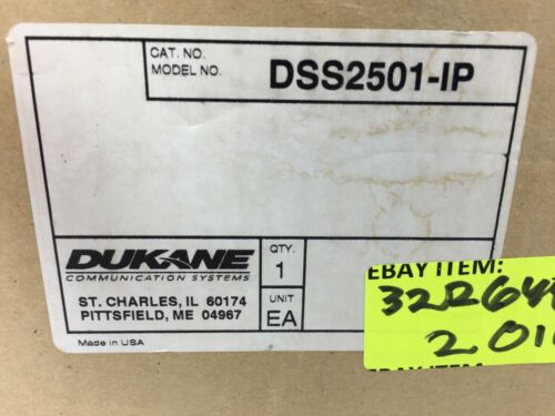 DSS2501-IP Classroom Control Module IP CCM Smart System Dukane EST Edwards SYS