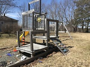 Wood swing set and accessories