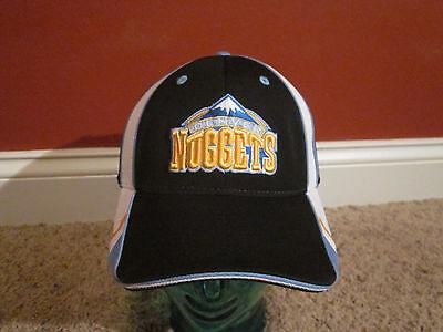 Denver Nuggets Reebok adjustable black Hat  Basketball NBA