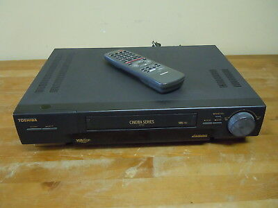 Toshiba Cinema (Toshiba Cinema Series Video Cassette Recorder VCR Player Model M-750 w/ Remote)