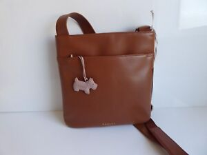 Radley Tan Leather Pocket Across Body Bag BNWT RRP £115 With Dust Bag