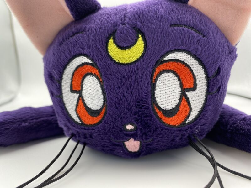 Sailor Moon Luna Guardian Cat 12-inch Lying Pose Plush Toy Official Licensed NWT