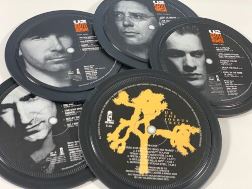 U2, 5 coasters in a tin. Popsters. Joshua Tree, Rattle and Hum