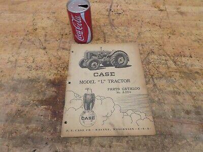 Antique Vintage Case Model L Tractor Manual Parts List Catalog No A254
