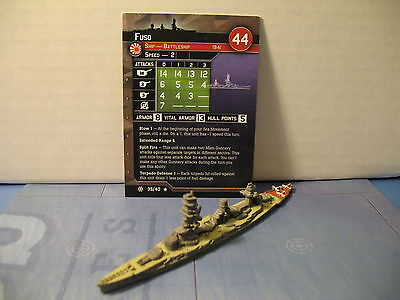 Axis and Allies War at Sea Condition Zebra Fuso 35/40