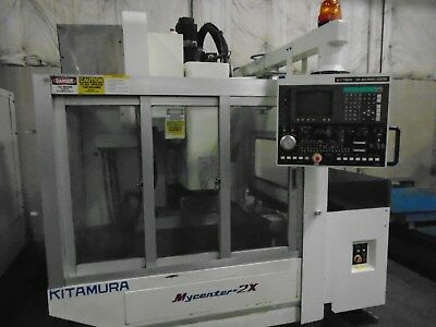 2001 Kitamura Mycenter 2xapc With Pallet Changer Cutting Hours 142 With Video