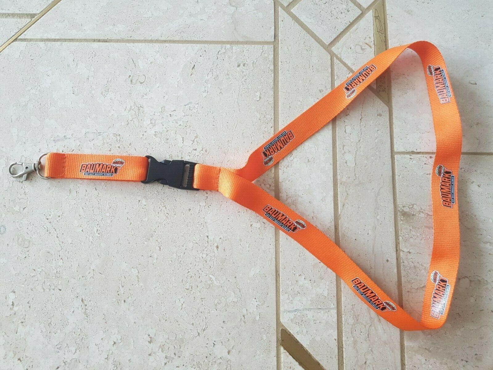 Schlüsselband Keyholder Lanyard * GLOBUS BAUMARKT * orange