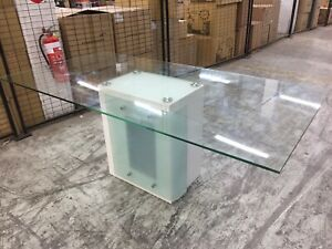 Quality large glass dining table board room table