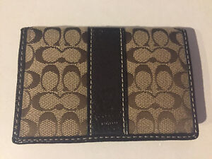 Selling brown coach small wallet