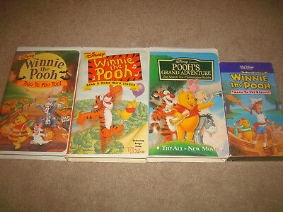 Disney Winnie the Pooh VHS LOT Kids Family Sing A Song with Tigger Halloween Boo