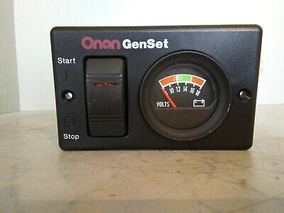 Onan Genset Startstop Switch And Volts Panel 300-495201h 319-3082