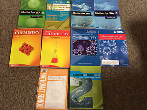 Maths,chemistry, accounting high school textbooks Wembley Cambridge Area Preview