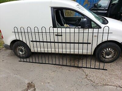 Wrought Iron Bow Top Railing / Fence - 2680mm long 1140mm high approx