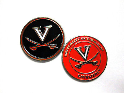 NCAA Virginia Cavaliers Golf Ball Marker Enamel Metal Team Logo 2 Sided - Virginia Cavaliers Ball