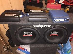 Mtx subs and alpine amp