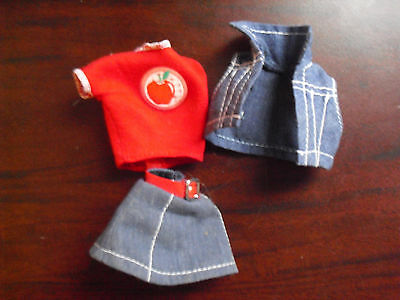 Vintage 1980s Barbie Denim Skirt Top Outfit - Clothes 1980 Outfits